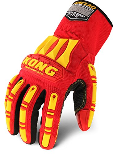 Ironclad KONG KRC5-04-L Rigger Grip Cut 5 Oil & Gas Safety Impact Gloves, Large ()
