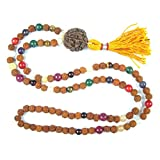 Meditation Yoga Healing Mala Beads Navgraha Rudraksha Necklace Empowers Good Effects