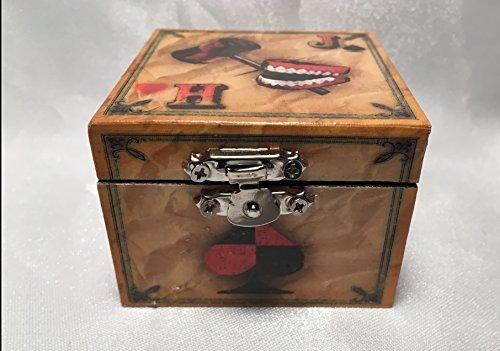 Joker and Harley Quinn Inspired Superhero Playing Card Proposal Engagement Ring Bearer Pillow Box
