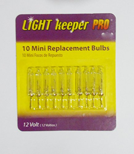 Light Keeper Pro 20 Mini Replacement Bulbs for Your Christmas Lights - 12 Volt - 2 Packs of 10 Bulbs
