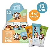 Kiss My Keto Snacks Keto Bars - Keto Chocolate Variety Pack (12) Nutritional Keto Food Bars, Paleo, Low Carb/Glycemic Keto Friendly Foods, Natural On-The-Go Snacks, Quality Fat Bars 3g Net Carbs Larger Image