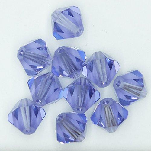 Tanzanite Purple 6mm Swarovski Crystal Beads. Bicone. Made in Austria. Pack of 10