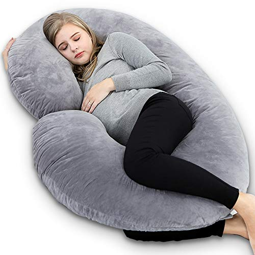 Body Pillows For Pregnant Moms - INSEN Pregnancy Body Pillow with Velour