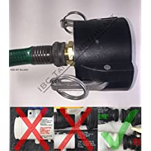 """UKC 275/330 IBC Tote Drain Adapter 2"""" Cam-Lock x Brass Garden Hose Connection"""