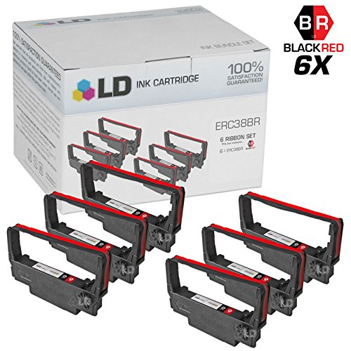 LD Products Compatible Ink Cartridge Replacement for Epson ERC38BR ( Black , 6-Pack )