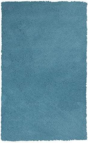KAS Rugs Shag Rug, 5 x 7 , Highlighter Blue