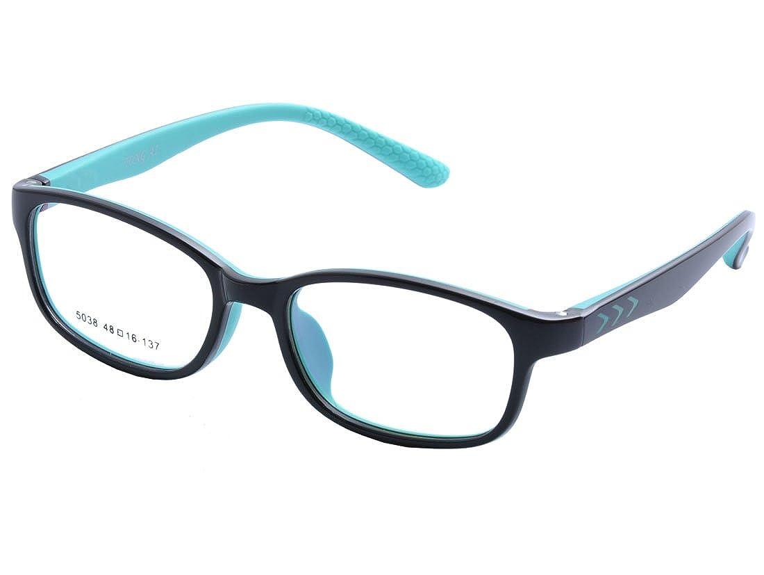 DEDING Kinder optische Brillenfassung mit Federscharnier