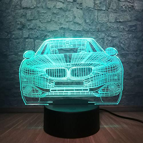 Aetd Desk Lamps 2019 Car 3D Lamp Multicolor RGB Bulb Led USB Table Night Light Lava Luminaria Bedroom Decor Christmas Switch Touch Remote