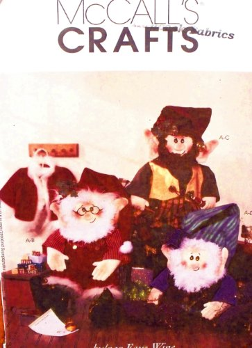 [McCall's Crafts Sewing Pattern 3837 - Use to Make - Santa and Elves Doll with Clothes - 3 Styles of] (Lady Santa Outfit)