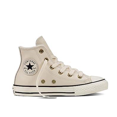 2346fda3ab Converse Chuck Taylor All Star Boot Leder mit Fell Parchment/ Black (38.5  EU)