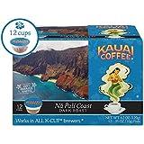 Kauai Coffee Single-serve Pods, Na Pali Coast Dark Roast – 100% Premium Arabica Coffee from Hawaii's Largest Coffee Grower, Keurig-Compatible Cups - 12 Count