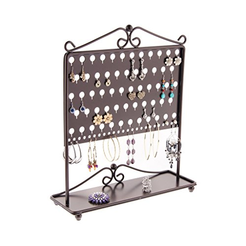 Angelynn's Earring Holder Organizer Jewelry Tree Stand Storage Rack, Ginger Rubbed Bronze