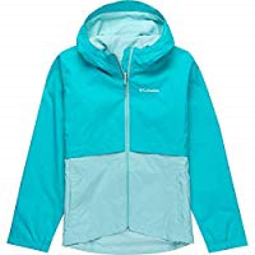 Columbia Girls' Big Rain-Zilla Jacket, Geyser/Spray, Medium by Columbia