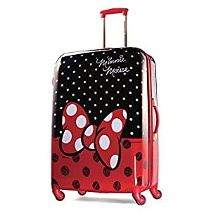 American Tourister Disney Minnie Mouse Red Bow Hardside Spinner 28, Multi, One Size