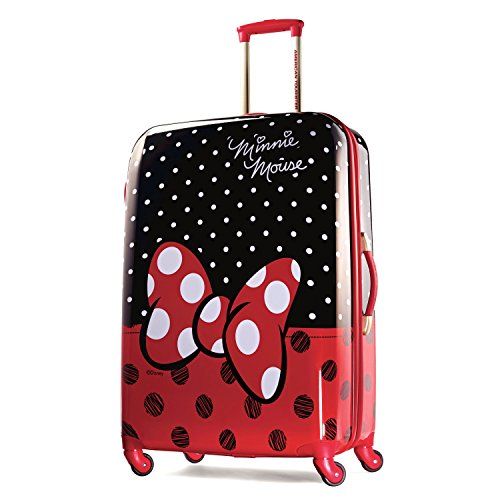 American Tourister Disney Minnie Mouse Red Bow Hardside Spinner 28, Multi