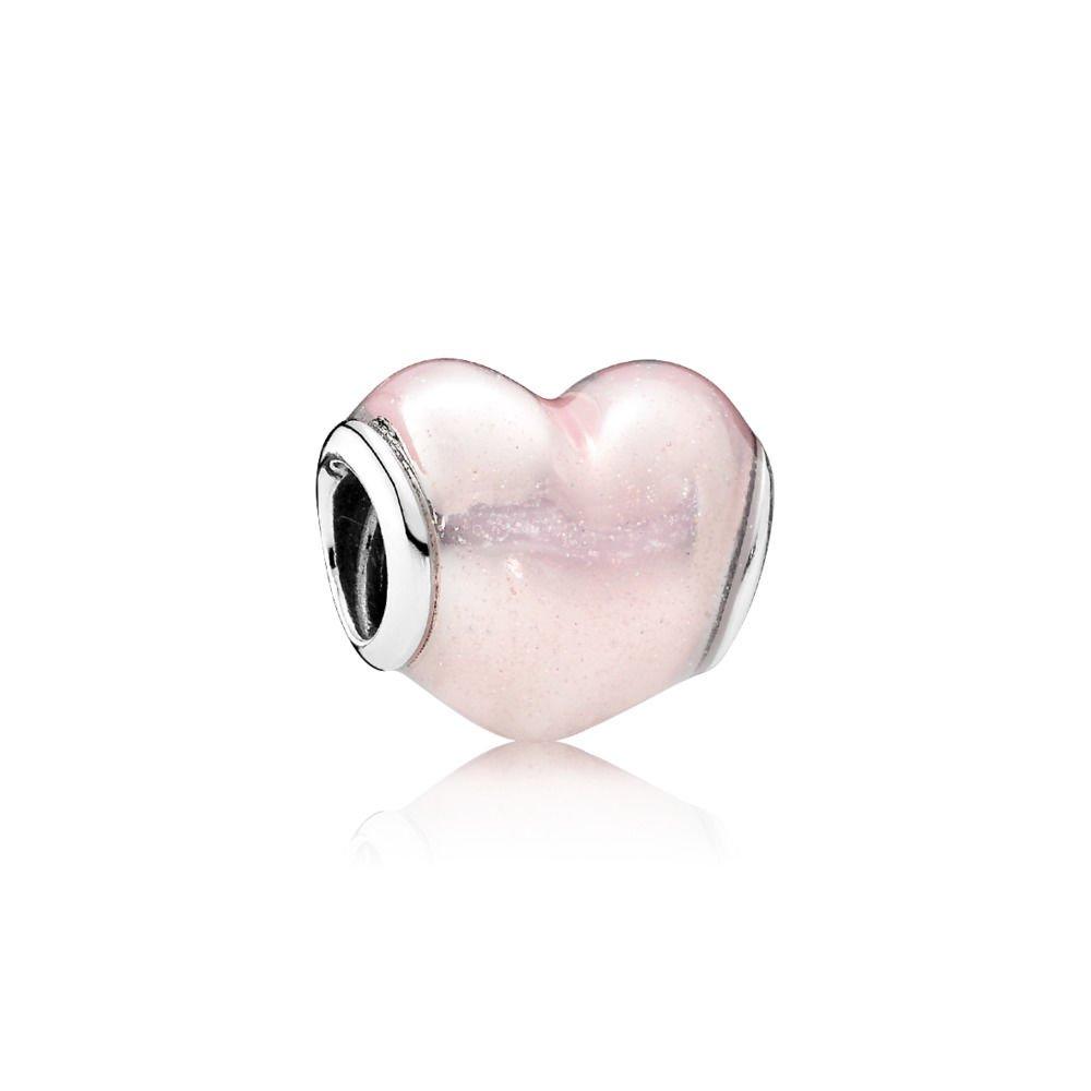 PANDORA Glittering Heart Charm 791886EN113
