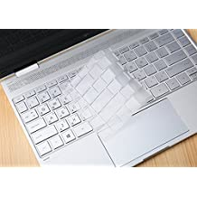 "XSKN Keyboard Skin for HP Spectre X360 2-in-1 13.3"" 13-W013DX 13-W023DX 13-AC013DX 13-AC023DX 13-AC033DX Series Touch-Screen Laptop, Ultra Thin Clear TPU Keyboard Cover US layout"