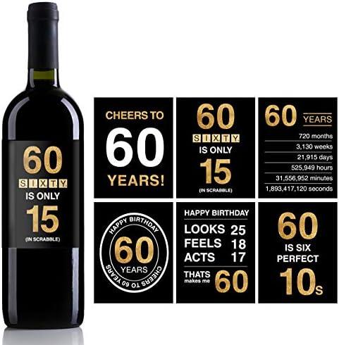 Amazon.com: Etiquetas o pegatinas para botellas de vino de ...