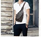 SIFINI Hiking Sling Backpack Top Genuine Leather