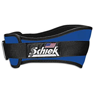 SCHIEK Nylon Lifting Belt-4 3 4 INCH Royal Small
