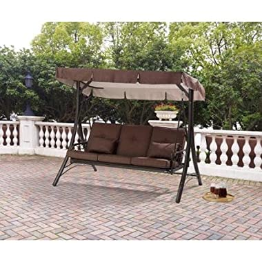 Mainstays Lawson Ridge Converting Outdoor Swing/Hammock, Brown, Seats 3
