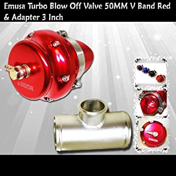 Universal 50mm Vband BOV Flange 3 Tube Pipe Blow off Valve Turbo