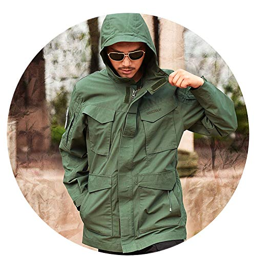 Military Camouflage Male Clothing US Army Tactical Mens Windbreaker Hoodie Field Jacket at Amazon Mens Clothing store: