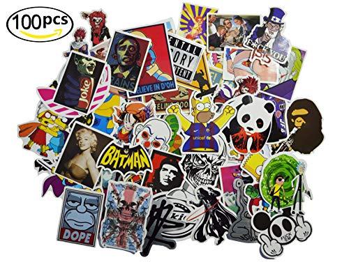 Price comparison product image 3Tyto store Sticker 100 pcs Random fashion cartoon waterproof Hard Hat,  Tool Chest,  Lunch Box ETC Stickers