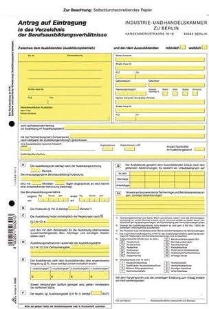 Berufsausbildungs Vertrag Rnk 5030 A4 4bl Ihk Berlin Amazonde