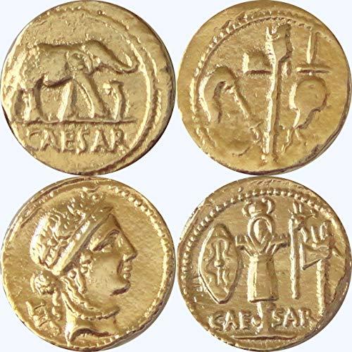 (Golden Artifacts Julius Caesar, 2 Most Famous Roman Coins, Collectible Coin Sets, Roman Empire, 2 Coins (28+29-G))