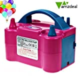 Amzdeal Electric Balloon Pump DualNozzle Balloon Inflator Portable 600W AC Balloon Blower for Party and Decoration