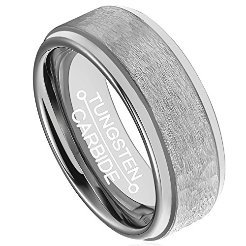 HSG Tungsten Handcrafted Hammered Polished