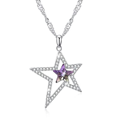 d7e710a42f7 Image Unavailable. Image not available for. Color: Vanessa Star Pendant  Necklace Crystals from Swarovski ...