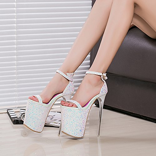 kristall sandalen heels schuhe weiße auftritt cd schuh 20cm high tdfYqdxn60
