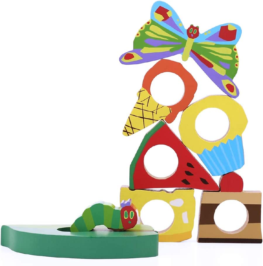 1歳未満 つみき 積み木 木のおもちゃ 絵本のつみき はらぺこあおむし プレイセット