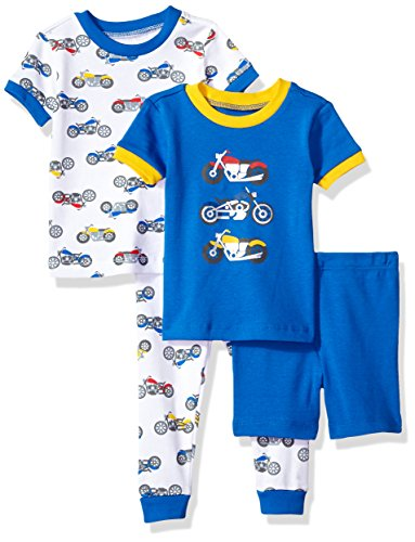 Little Me Baby 4 Piece Cotton Pajamas, Motorcycle, 18 Months ()