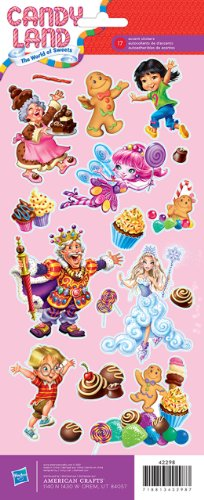 """Cardstock Stickers 4.75""""X12"""" Sheet-Candyland Characters"""