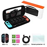 Switch Carrying Case for Nintendo Switch, Switch Accessories Kit for Nintendo Switch,Protective Travel Hard Shell Case,Charging Cable,Screen Protectors,Joy-Con Covers Review