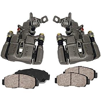 REAR Premium Loaded OE Remanufactured Calipers FRONT Hardware Kit Callahan CCK03554 4 Ceramic Brake Pads