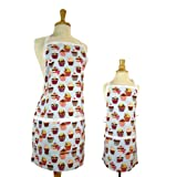Cupcake Adult & Kids Matching Apron Set, Mother Daughter Reversible Apron Set
