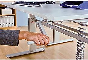 UPLINER - Escritorio de altura manual, 725-1185 mm de ancho x 1600 ...