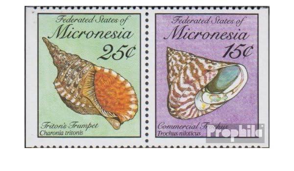 Prophila Collection Mikronesien Michel.-No..: 144D/146D Pareja ...