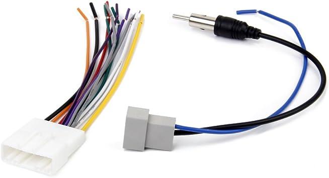 Radio Del Dvd Del Coche Instalar Mazo De Cables Estéreo Se Conecta El Adaptador De Antena Para Nissan