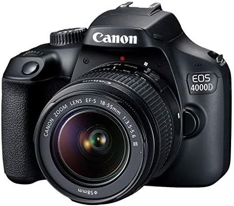 Canon EOS 4000D DSLR Camera w/Canon EF-S 18-55mm F/3.5-5.6 III Zoom Lens + Case + 32GB SD Card (15pc Bundle) 51n 2B 4pOg L