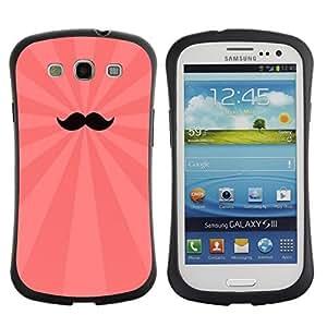Hybrid Anti-Shock Bumper Case for Samsung Galaxy S3 / Cool Moustache