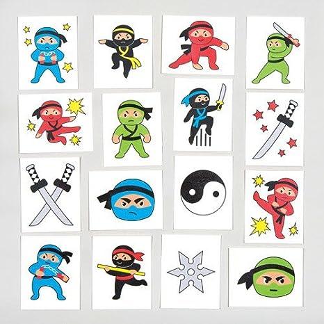 Baker Ross Ninja - Tatuajes temporales (24 Unidades): Amazon ...