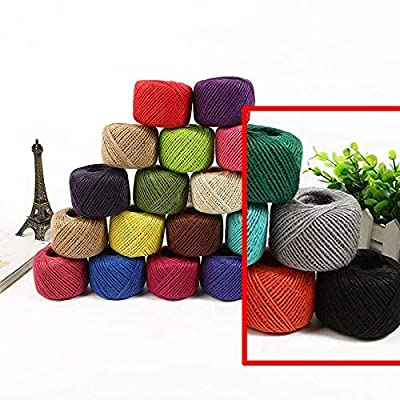 50 Meters Colourful Hemp Natural Jute Twine Hessian String Cord 2mm (Gray): Home Improvement