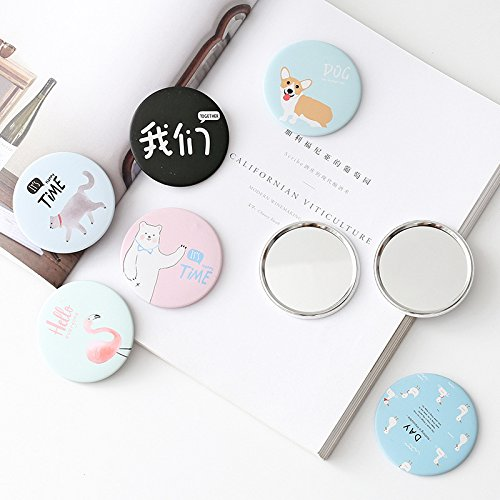 Yingealy Childrens Mirror Mini Round Cartoon Goose Pattern Small Glass Mirrors Circles for Crafts Decoration Cosmetic Accessory by Yingealy (Image #8)