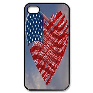 Retro American Flag ZLB526712 Custom Phone Case for Iphone 4,4S, Iphone 4,4S Case by Maris's Diary