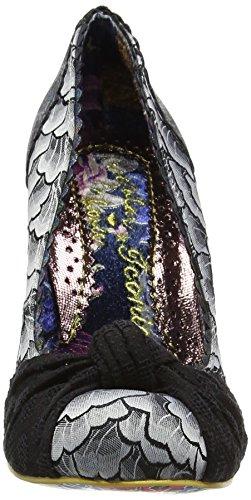 Irregular Choice Smartie Pants - Tacones Mujer Black (Black Metallic)